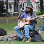 Benny Prasad performs in St John's Churchyard