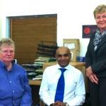 UKDPC Chair Julie Newman, CEO Jaspal Dhani and the Hon Jan McLucas at UKDPC House.