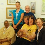 Participants at the story telling workshop, together with David Roche