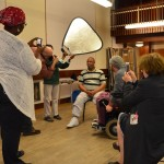 Participants at the photography workshop led by Ian Farrant (wheelchair user, centre)