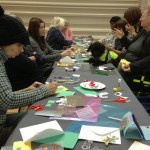 Colour photograph of the Winter Crafts workshop at the Hub