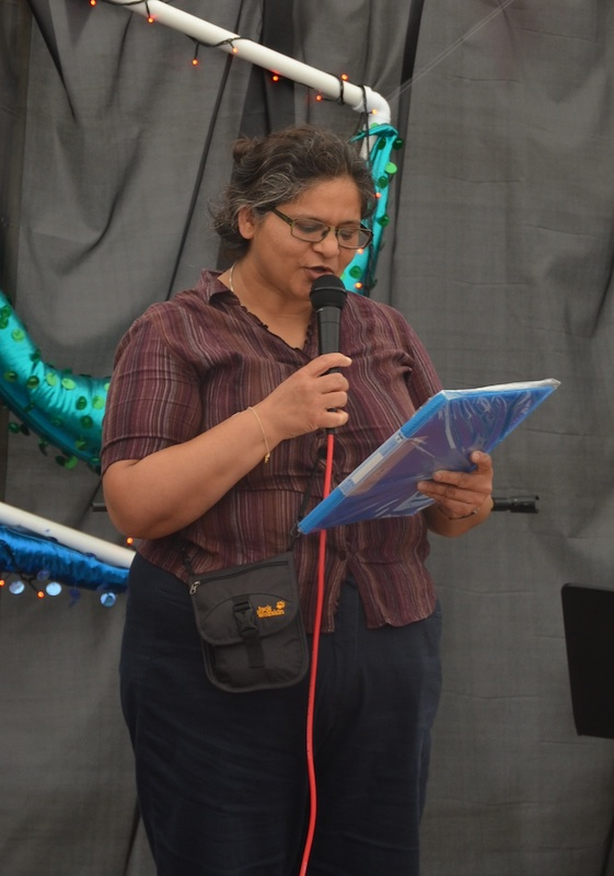 Poetry Club members performed at the Together! tent at the Liberty festival in August 2014