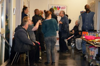 Artists and guests at the Private View of the 2015 Open Exhibition at the Hub on 20 November 2015