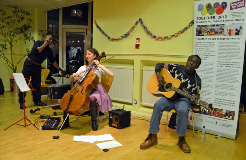 Jo-anne Cox and Walton McLaren perform at the Together! Music Club on 7 December 2015