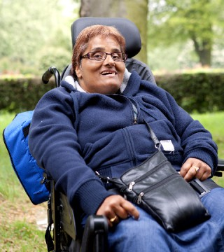 Nasa Begum at a memorial picnic for Together! 2012's inspiration the late David Morris, shortly before her own death.