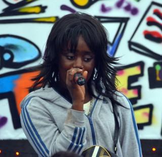 Rap artist Grace Fundu
