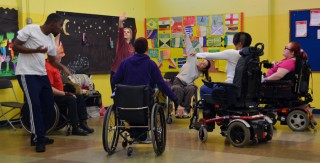 Stopgap Dance Company lead a workshop for the Together! Dance Club on 28 November 2016 as part of the Together! 2016 Disability History Month Festival