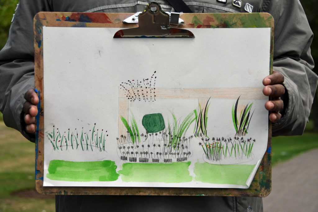 Drawing and painting in West Ham Park