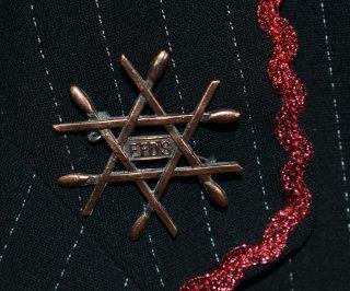 Close up of EFDS badge