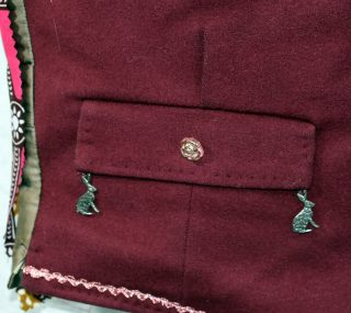 Close up of hares on the pocket