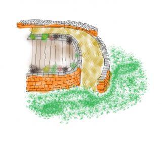 Digital sketch of a step-free garden path