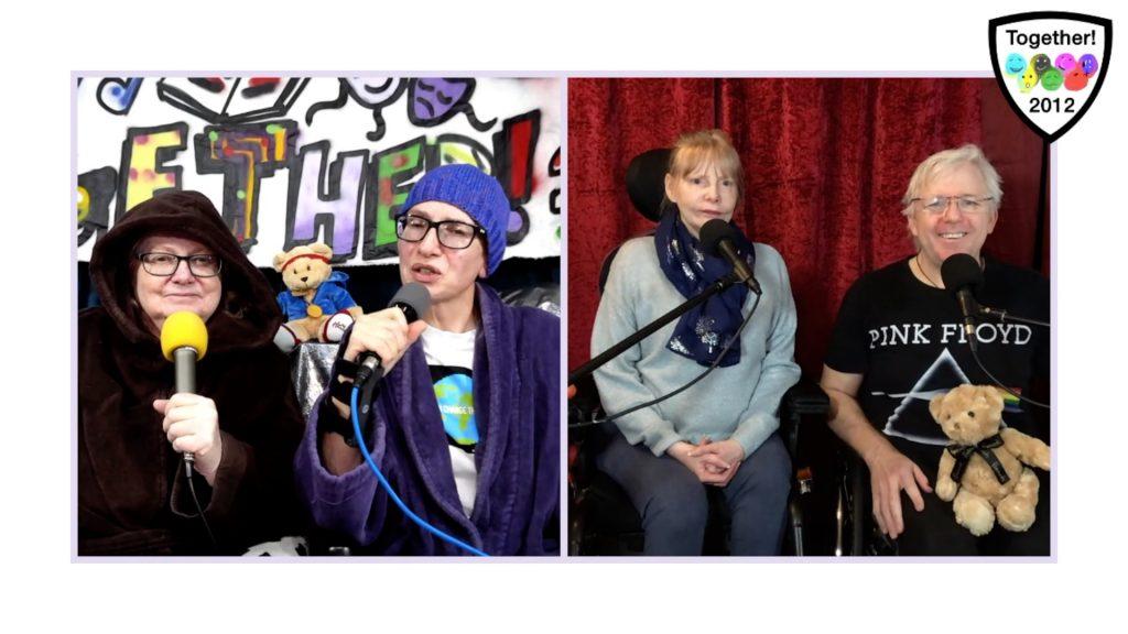 Screen shot of co-hosts