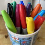 Felt-tipped pens